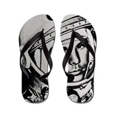 Yuri Gagarin Flip Flops