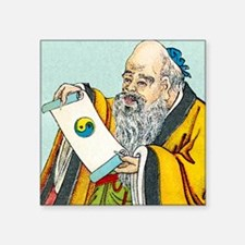 "Lao Tse, Chinese philosophe Square Sticker 3"" x 3"""