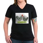 Barred Hollands Women's V-Neck Dark T-Shirt