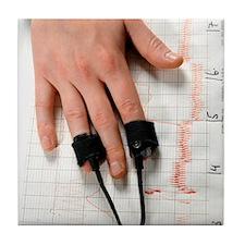 Lie detector test Tile Coaster