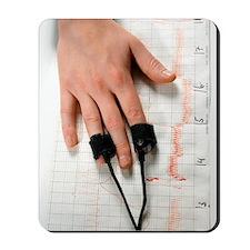 Lie detector test Mousepad
