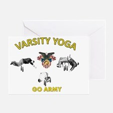USMA Varsity Yoga Greeting Card