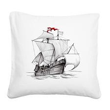 Pirate Ship Square Canvas Pillow