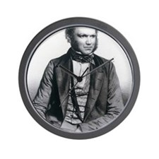 Lithograph of Charles Darwin aged 40 Wall Clock