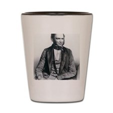Lithograph of Charles Darwin aged 40 Shot Glass