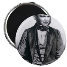 Lithograph of Charles Darwin aged 40 Magnet