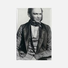 Lithograph of Charles Darwin aged Rectangle Magnet