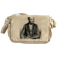 Lithograph of Charles Darwin aged 40 Messenger Bag