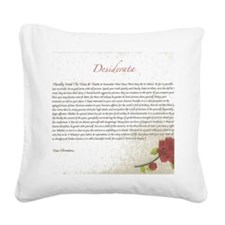 Desiderata Red Rose Square Canvas Pillow