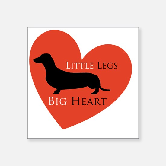 "Dachshund Square Sticker 3"" x 3"""
