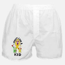 fight like a kid Boxer Shorts