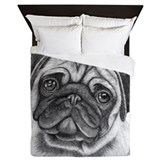 Cute pug Queen Duvet Covers