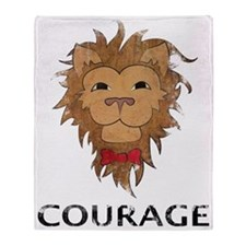 Courage of a Lion (L) Throw Blanket