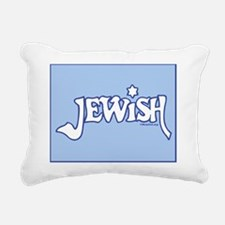 Jewipad3folioWhiteOnLtBl Rectangular Canvas Pillow