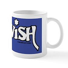 JewishLaptopSkinWhiteOnDkBlue Mug