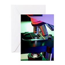 Light microscope Greeting Card