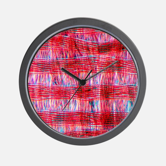 Light micrograph of polyamide in tissue Wall Clock