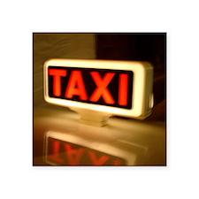 "Paris Taxi Square Sticker 3"" x 3"""