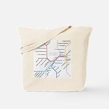LA Metro map Tote Bag
