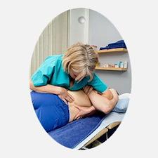 Lumbar spine mobilisation treatment Oval Ornament