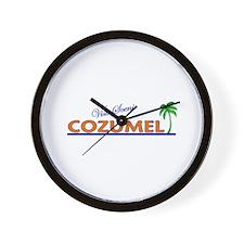 Visit Scenic Cozumel, Mexico Wall Clock