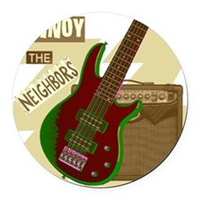 Electric Guitar Round Car Magnet