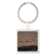 Ocean Sunset Square Keychain