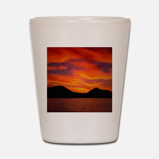 Cabo Sunset Shot Glass