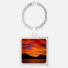 Cabo Sunset Square Keychain