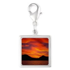 Cabo Sunset Silver Square Charm