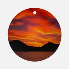 Cabo Sunset Round Ornament