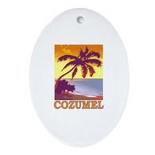 Cozumel, Mexico Oval Ornament