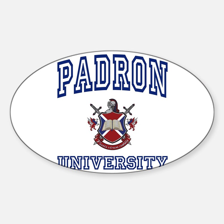 PADRON University Oval Decal
