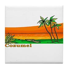 Cozumel, Mexico Tile Coaster