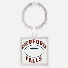 Bedford Falls Football Square Keychain