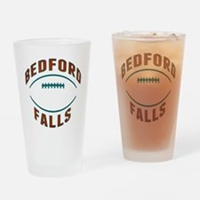 Bedford Falls Football Drinking Glass
