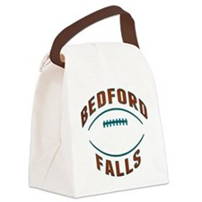 Bedford Falls Football Canvas Lunch Bag