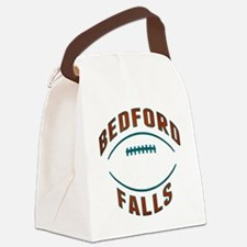 Bedford Falls Football Canvas Lunch Bag