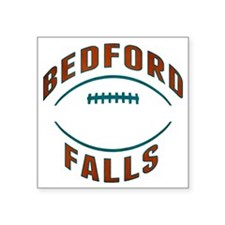 "Bedford Falls Football Square Sticker 3"" x 3"""