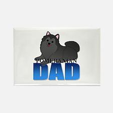 Pomeranian Dad Rectangle Magnet (100 pack)