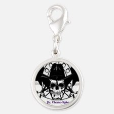 Pancreatic Cancer Posse Silver Round Charm