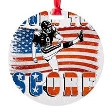 Born to Score Football Player Kicke Ornament