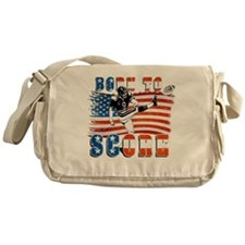 Born to Score Football Player Kicker Messenger Bag