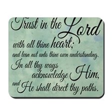 Trust  in the Lord Mousepad