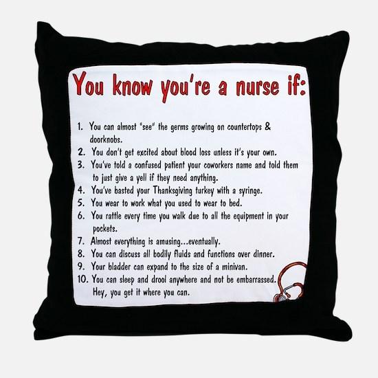 You're A Nurse If... Throw Pillow