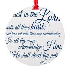 Trust  in the Lord Ornament