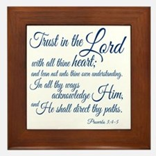 Trust  in the Lord Framed Tile