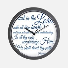 Trust  in the Lord Wall Clock