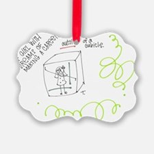 Cubicle Girl Ornament