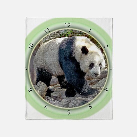Panda Strut Throw Blanket